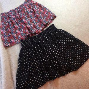 TWO Zara Mini Skirts Pull On Medium